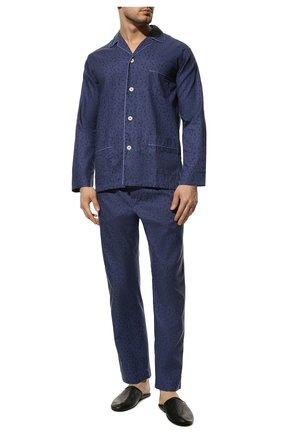 Мужская хлопковая пижама ROBERTO RICETTI синего цвета, арт. PIGIAMA VENEZIA LUNG0/B2602 | Фото 2