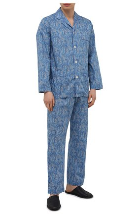 Мужская хлопковая пижама ROBERTO RICETTI синего цвета, арт. PIGIAMA VENEZIA LUNG0/0R02601 | Фото 1