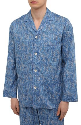 Мужская хлопковая пижама ROBERTO RICETTI синего цвета, арт. PIGIAMA VENEZIA LUNG0/0R02601 | Фото 2