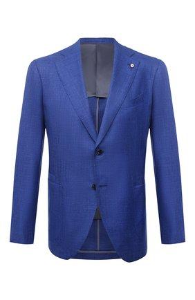 Мужской пиджак из шерсти и шелка L.B.M. 1911 синего цвета, арт. 2411/12561 | Фото 1