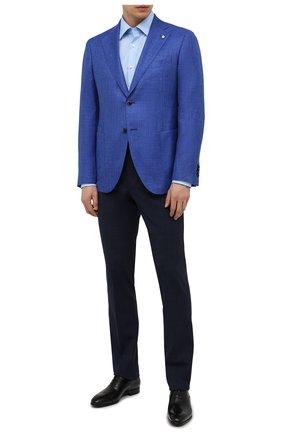 Мужской пиджак из шерсти и шелка L.B.M. 1911 синего цвета, арт. 2411/12561 | Фото 2