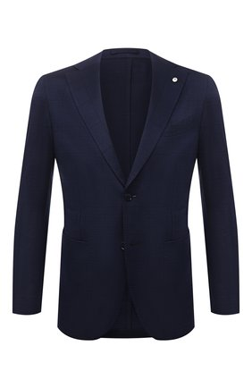 Мужской хлопковый пиджак L.B.M. 1911 темно-синего цвета, арт. 2817/15755 | Фото 1