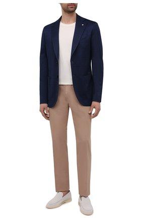 Мужской хлопковый пиджак L.B.M. 1911 темно-синего цвета, арт. 2817/15755 | Фото 2