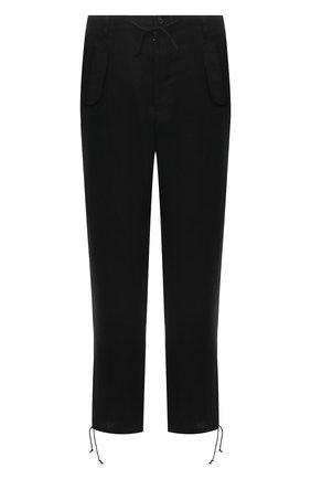 Мужские льняные брюки MAISON MARGIELA черного цвета, арт. S30KA0615/S53702 | Фото 1
