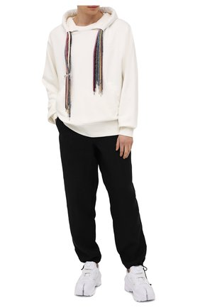 Мужские льняные брюки MAISON MARGIELA черного цвета, арт. S30KA0615/S53702 | Фото 2