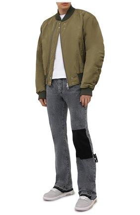 Мужские кожаные кеды out of office OFF-WHITE светло-серого цвета, арт. 0MIA189S21LEA0010501 | Фото 2