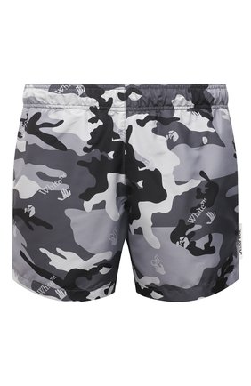 Мужские плавки-шорты OFF-WHITE серого цвета, арт. 0MFA003S21FAB006 | Фото 1