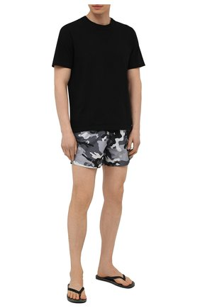Мужские плавки-шорты OFF-WHITE серого цвета, арт. 0MFA003S21FAB006 | Фото 2