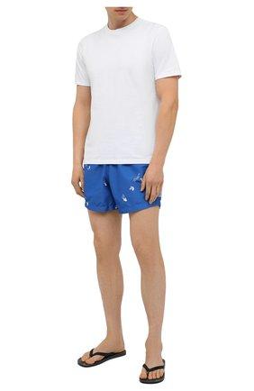 Мужские плавки-шорты OFF-WHITE синего цвета, арт. 0MFA003S21FAB005 | Фото 2