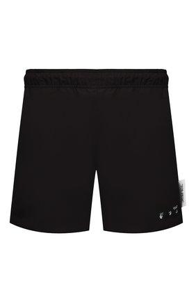 Мужские плавки-шорты OFF-WHITE черного цвета, арт. 0MFA003S21FAB001 | Фото 1