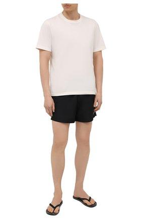 Мужские плавки-шорты OFF-WHITE черного цвета, арт. 0MFA003S21FAB001 | Фото 2