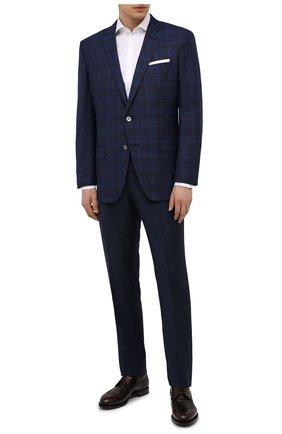 Мужской шерстяной пиджак BOSS синего цвета, арт. 50453698 | Фото 2