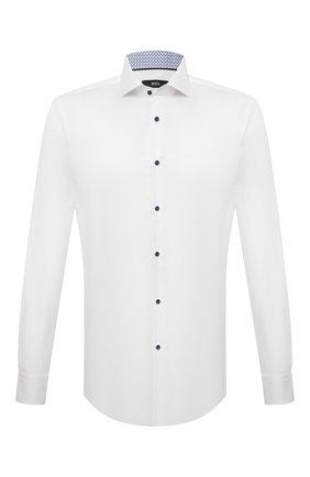 Мужская хлопковая сорочка BOSS белого цвета, арт. 50453908 | Фото 1