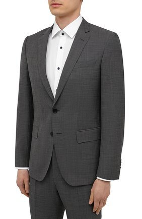 Мужской шерстяной костюм BOSS серого цвета, арт. 50453670 | Фото 2