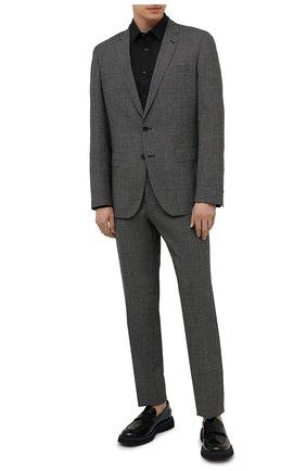 Мужской шерстяной костюм BOSS черно-белого цвета, арт. 50453657 | Фото 1