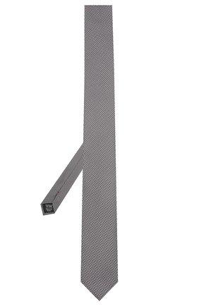 Мужской шелковый галстук HUGO серого цвета, арт. 50454882   Фото 2 (Принт: С принтом; Материал: Текстиль, Шелк)