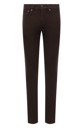Мужские брюки изо льна и хлопка RALPH LAUREN коричневого цвета, арт. 790798751 | Фото 1