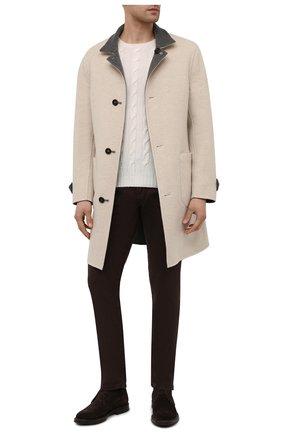 Мужские брюки изо льна и хлопка RALPH LAUREN коричневого цвета, арт. 790798751 | Фото 2