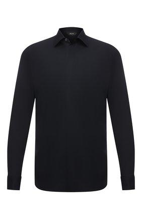 Мужская хлопковая сорочка Z ZEGNA черного цвета, арт. 905080/ZCSC7 | Фото 1
