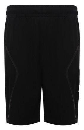 Мужские шорты A-COLD-WALL* черного цвета, арт. ACWMB045   Фото 1 (Кросс-КТ: Трикотаж; Длина Шорты М: До колена; Принт: Без принта; Материал внешний: Синтетический материал; Стили: Гранж)