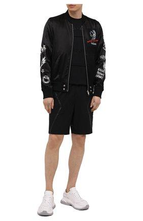Мужские шорты A-COLD-WALL* черного цвета, арт. ACWMB045   Фото 2 (Кросс-КТ: Трикотаж; Длина Шорты М: До колена; Принт: Без принта; Материал внешний: Синтетический материал; Стили: Гранж)