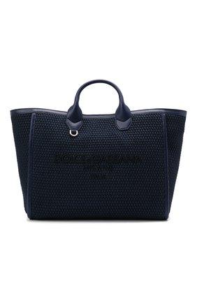 Мужская текстильная сумка-тоут DOLCE & GABBANA темно-синего цвета, арт. BM6572/A0307 | Фото 1