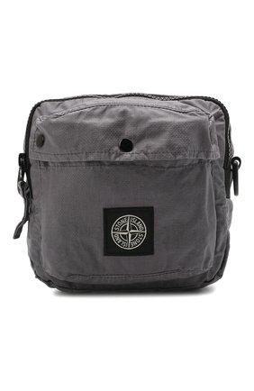 Мужская текстильная сумка STONE ISLAND темно-серого цвета, арт. 741590270   Фото 1