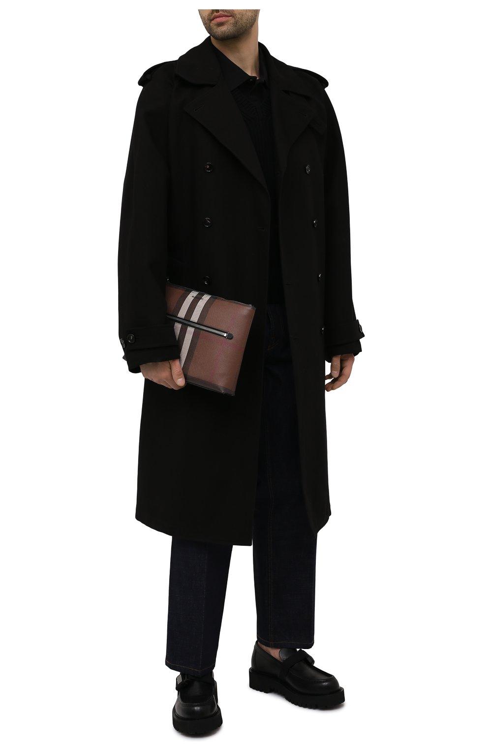Мужская клатч BURBERRY коричневого цвета, арт. 8039005   Фото 2