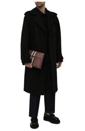 Мужская клатч BURBERRY коричневого цвета, арт. 8039005 | Фото 2 (Материал: Экокожа)