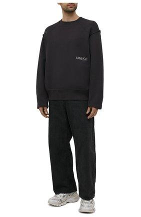 Мужской хлопковый свитшот AMBUSH темно-серого цвета, арт. BMBA006S21FLE001 | Фото 2