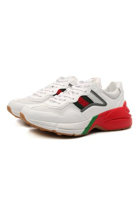 Мужские кроссовки rhyton GUCCI кремвого цвета, арт. 643491/2H060 | Фото 1