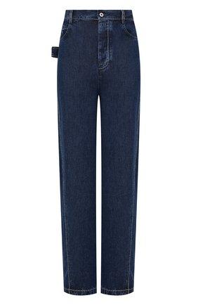 Мужские джинсы BOTTEGA VENETA синего цвета, арт. 655978/V0SH0 | Фото 1 (Материал внешний: Лиоцелл; Длина (брюки, джинсы): Стандартные; Кросс-КТ: Деним; Силуэт М (брюки): Широкие)