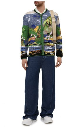 Мужские джинсы BOTTEGA VENETA синего цвета, арт. 655978/V0SH0 | Фото 2 (Материал внешний: Лиоцелл; Длина (брюки, джинсы): Стандартные; Кросс-КТ: Деним; Силуэт М (брюки): Широкие)