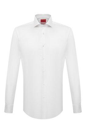 Мужская хлопковая сорочка HUGO белого цвета, арт. 50289491 | Фото 1