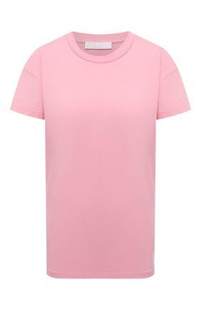 Женская хлопковая футболка BOSS розового цвета, арт. 50454553 | Фото 1