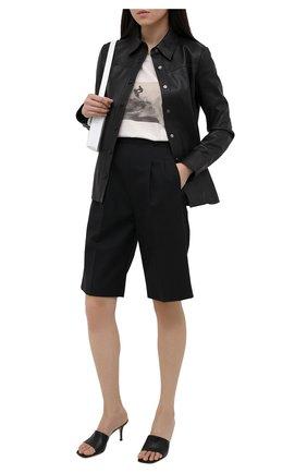 Женская кожаная рубашка BOSS черного цвета, арт. 50455964 | Фото 2