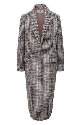 Женское пальто из вискозы SEVEN LAB разноцветного цвета, арт. CM21-K04/2 tw beige/black   Фото 1