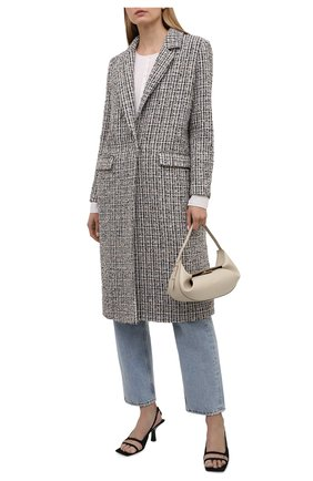 Женское пальто из вискозы SEVEN LAB разноцветного цвета, арт. CM21-K04/2 tw beige/black   Фото 2
