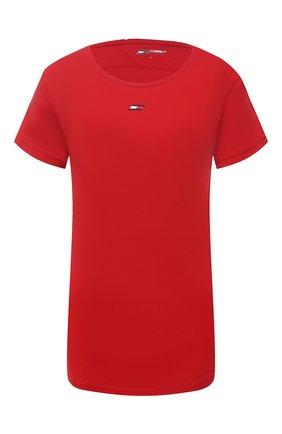 Женская футболка TOMMY HILFIGER красного цвета, арт. S10S100924   Фото 1