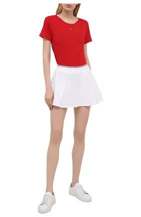 Женская футболка TOMMY HILFIGER красного цвета, арт. S10S100924   Фото 2