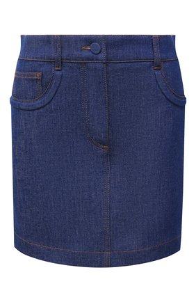 Женская джинсовая юбка FENDI синего цвета, арт. FLQ540 AF73 | Фото 1