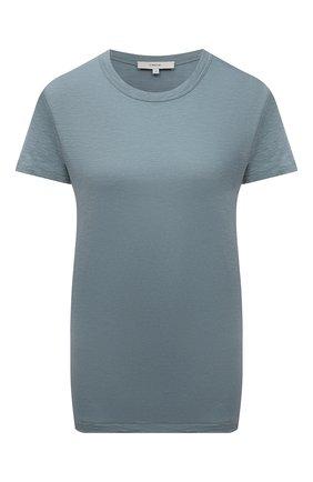 Женская хлопковая футболка VINCE тёмно-голубого цвета, арт. V735583648 | Фото 1