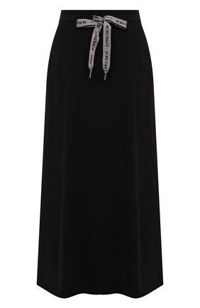 Женская хлопковая юбка 5PREVIEW черного цвета, арт. 5PW21028 | Фото 1