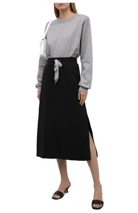 Женская хлопковая юбка 5PREVIEW черного цвета, арт. 5PW21028 | Фото 2