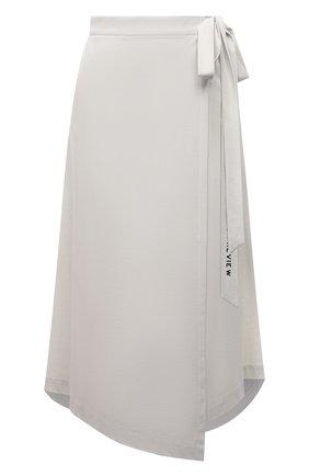 Женская юбка из вискозы 5PREVIEW светло-серого цвета, арт. 5PW21062 | Фото 1