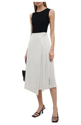 Женская юбка из вискозы 5PREVIEW светло-серого цвета, арт. 5PW21062 | Фото 2