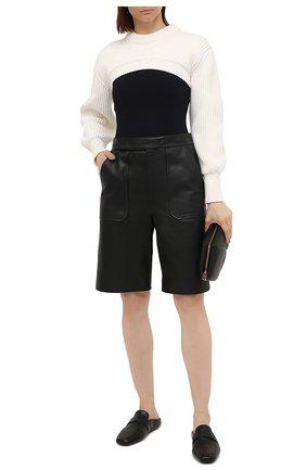 Женские кожаные сабо BALENCIAGA черного цвета, арт. 651997/WA72L | Фото 2