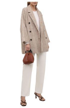 Женское пальто BRUNELLO CUCINELLI бежевого цвета, арт. M2I182506P | Фото 2 (Рукава: Длинные; Материал внешний: Шерсть; Стили: Кэжуэл)