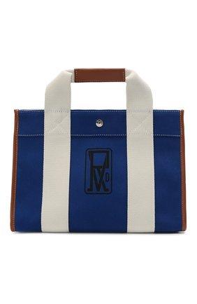 Женский сумка-тоут RUE DE VERNEUIL синего цвета, арт. TRAVELLER M L0G0 PRINT CANVAS | Фото 1