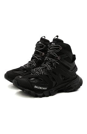 Женские комбинированные кроссовки track hike BALENCIAGA черного цвета, арт. 654866/W3CP3 | Фото 1